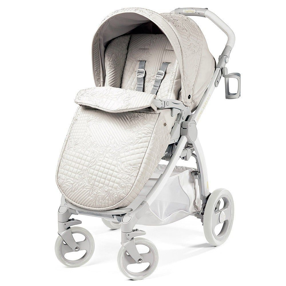 Young Versace Baby White Stroller And Travel Set Mountain Buggy Urban Jungle Baby Kinderwagen Baby