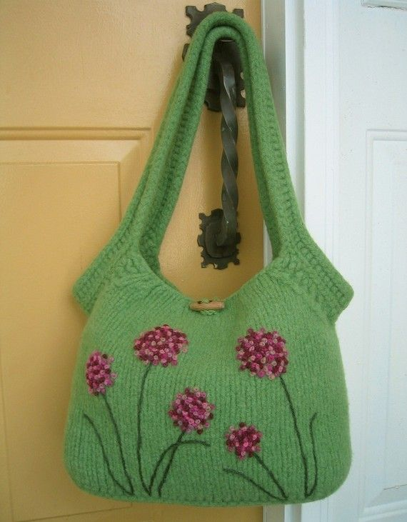 PDF PATTERN, Felted Bag Pattern, Felted Purse Pattern, Knitting ...
