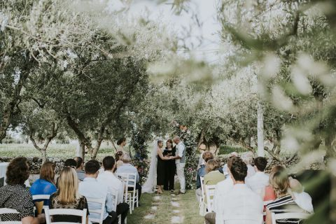 Wedding ceremony in the olive garden, italy, Puglia | Adrienne And ...