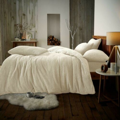 Teddy Bear Fleece Duvet Cover Set Sherpa Thermal Warm Soft Bedding Pillowcases Ebay Fitted Bed Sheets Duvet Cover Sets Duvet Sets