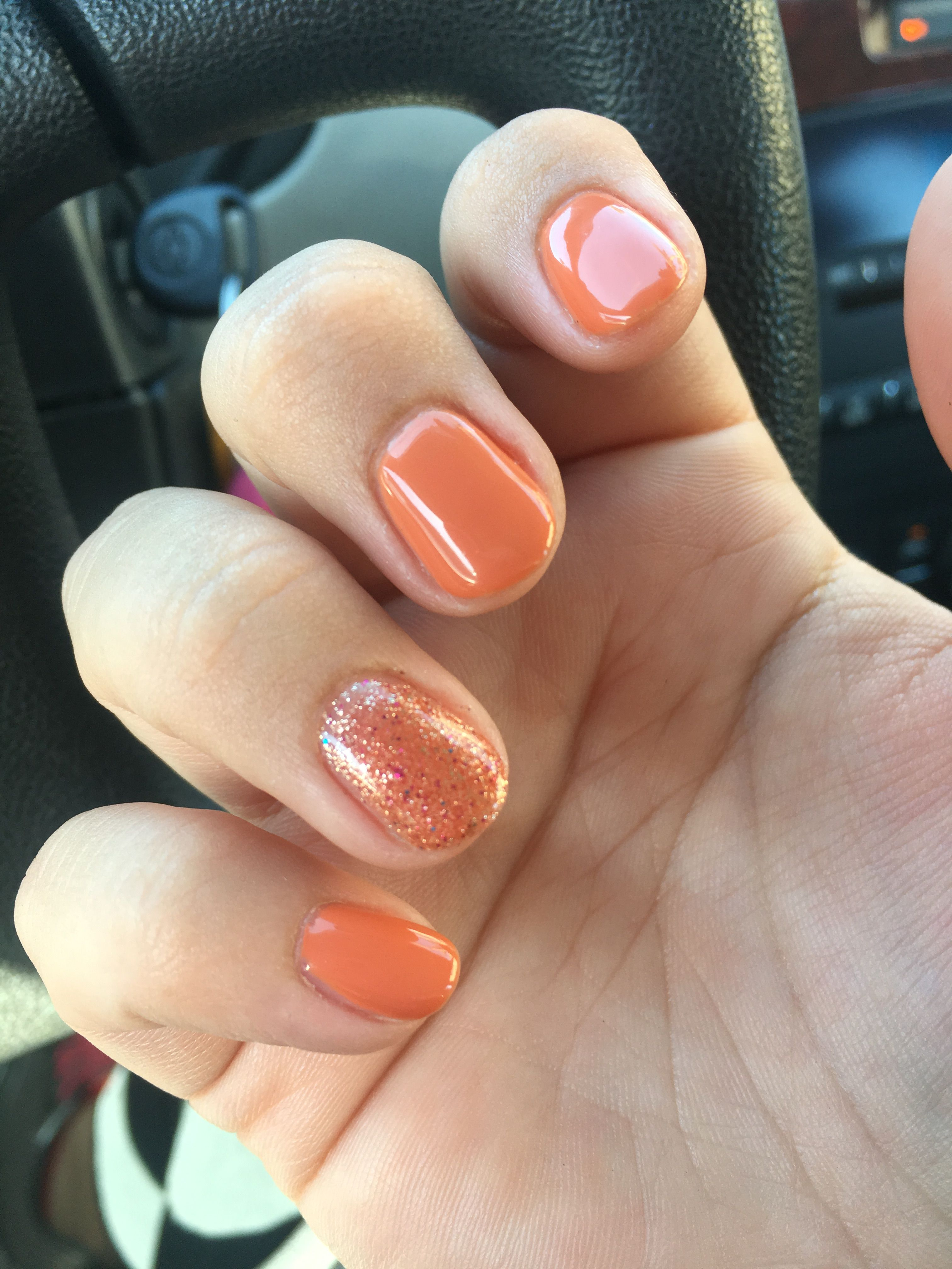 Gel Polish - Natural Nails - Halloween - Orange - Pumpkin ...
