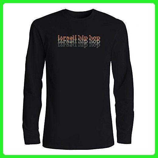 b0ef3515a Idakoos - Israeli Hip Hop repeat retro - Music - Long Sleeve T-Shirt -  Retro shirts (*Amazon Partner-Link)