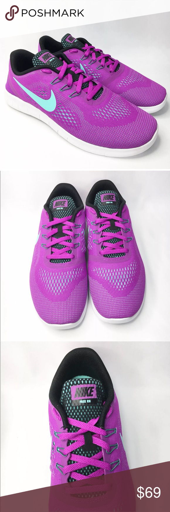 65605cd766ba Nike Free Run Purple Running Shoes Nike Free Run Purple Running Shoes Size  7Y fits Women s Size 8.5  See Nike Shoe Size Chart in pictures Brand New.
