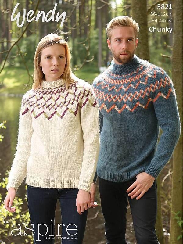 Wendy 5821 Fairisle Sweaters Lehdet Ja Kirjat Sweater Knitting