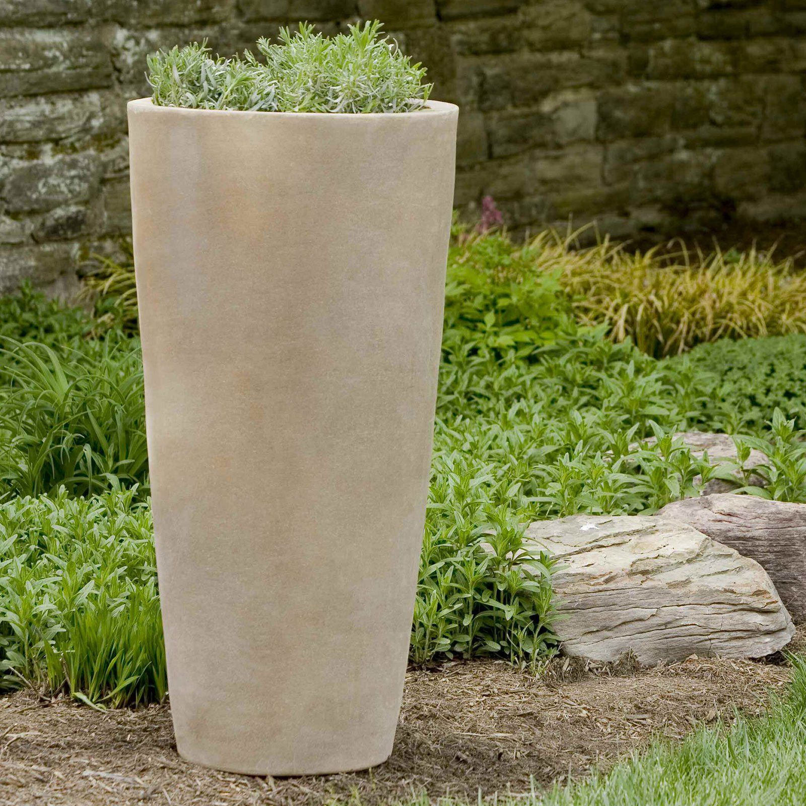 Concrete Outdoor Pots Tall Outdoor Planters With Nice Terra Cotta Round Aluan