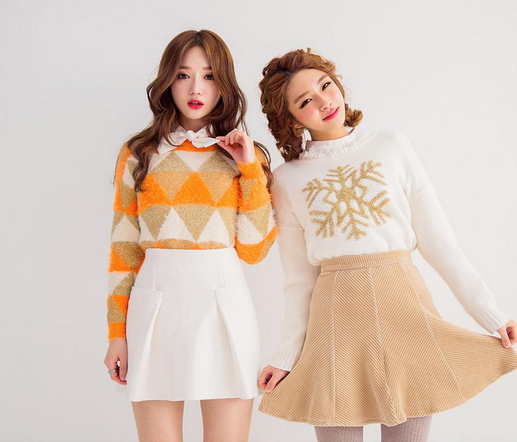 chuu - Argyle Patterned Knit Top #argylepatterned #knittop #patternedknittop #top
