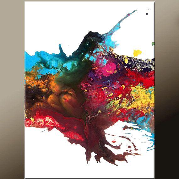 Abstract Art 18x24 Contemporary Modern Original by wostudios