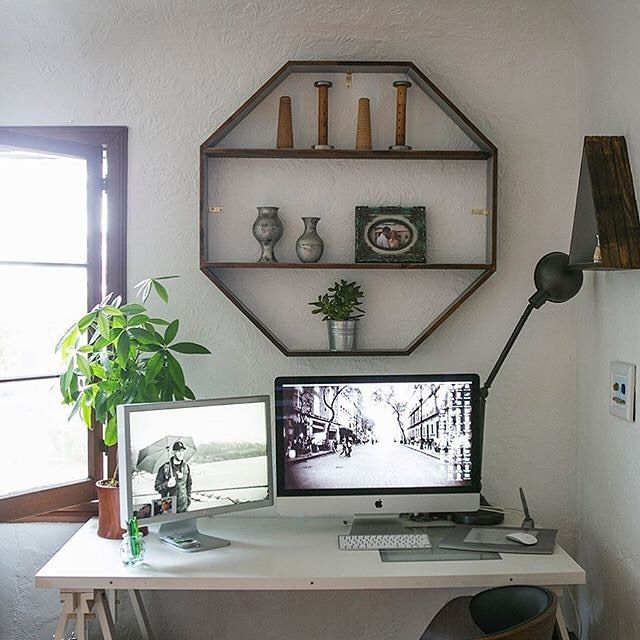 DIY Idea Handmade Octagon Wooden Shelf