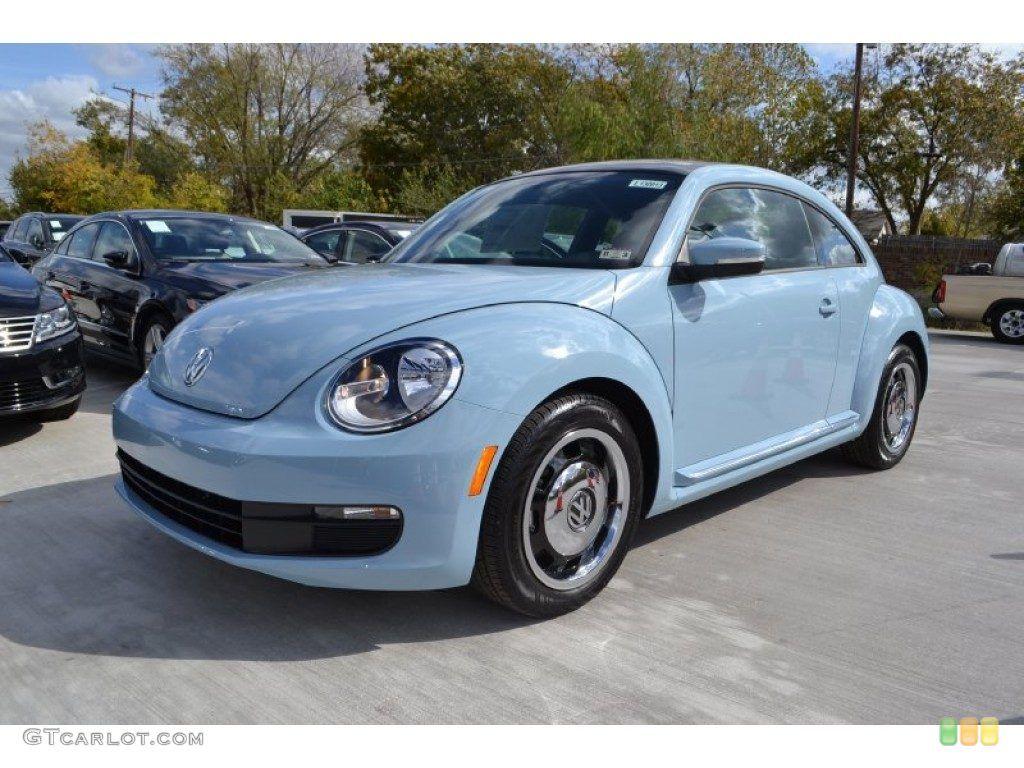 Powder Blue Vw Beetle