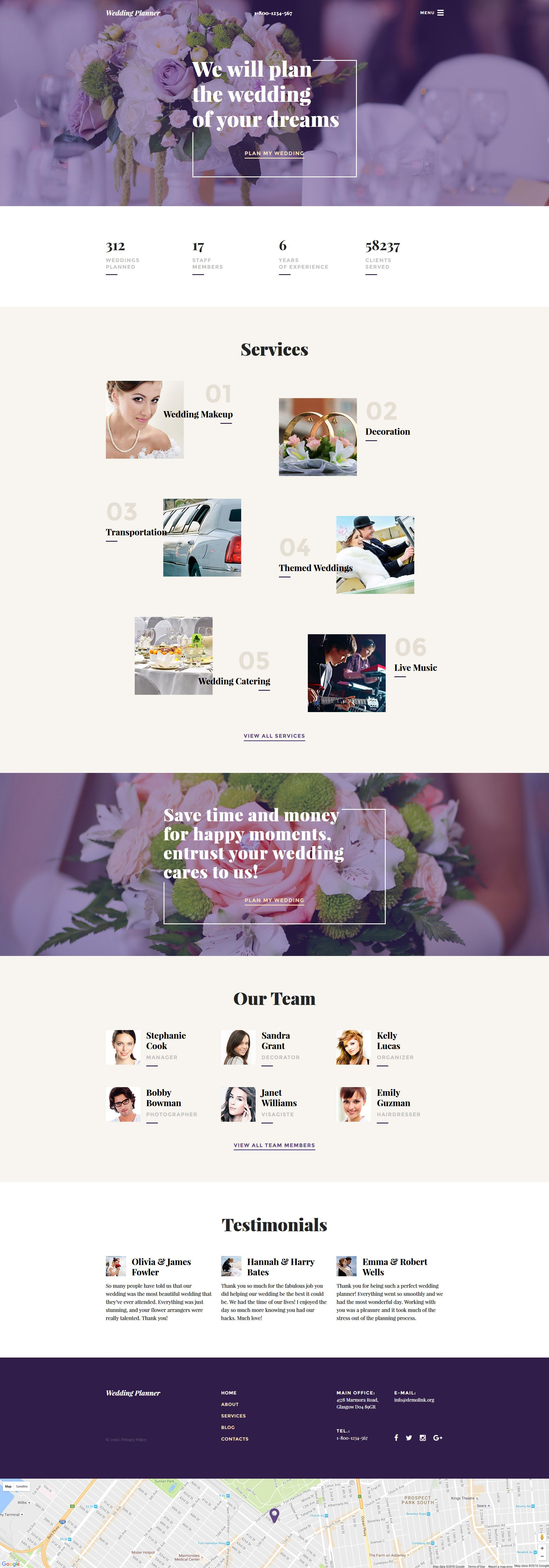 wedding planner responsive website template httpwwwtemplatemonstercom