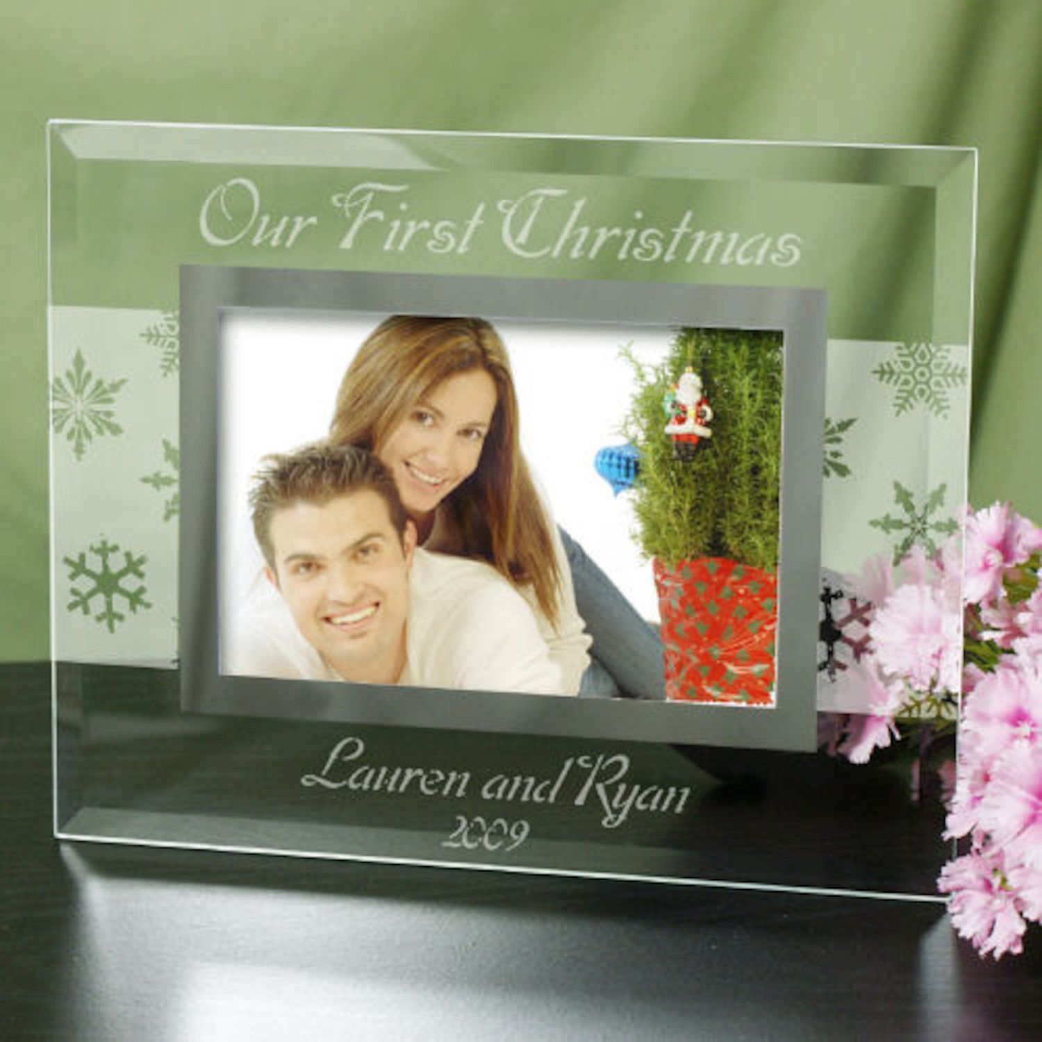 Personalized Custom Message Winter Frame Romance Pinterest