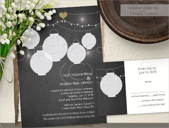 Chalkboard Invitation Templates  Psd Invitations  Free