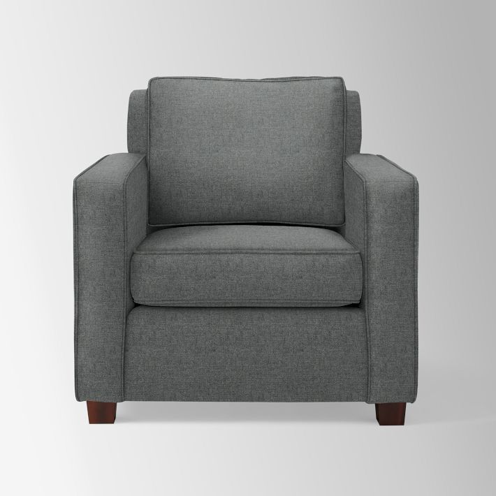 Henry Arm Chair, Eco Weave, Oyster, Chocolate Armchairs and Upholstery