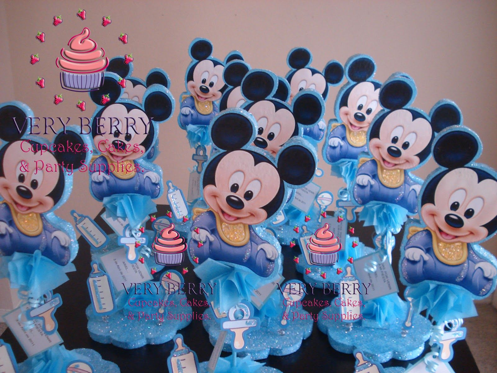 Elegant Baby Mickey Baby Shower Items | BABY MICKEY CENTER PIECES