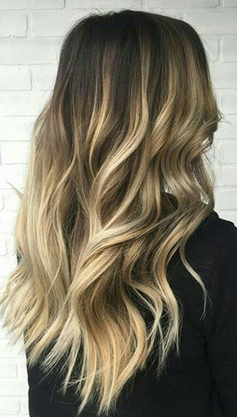 Perfect Black Hair With Highlights Blonde Balayage