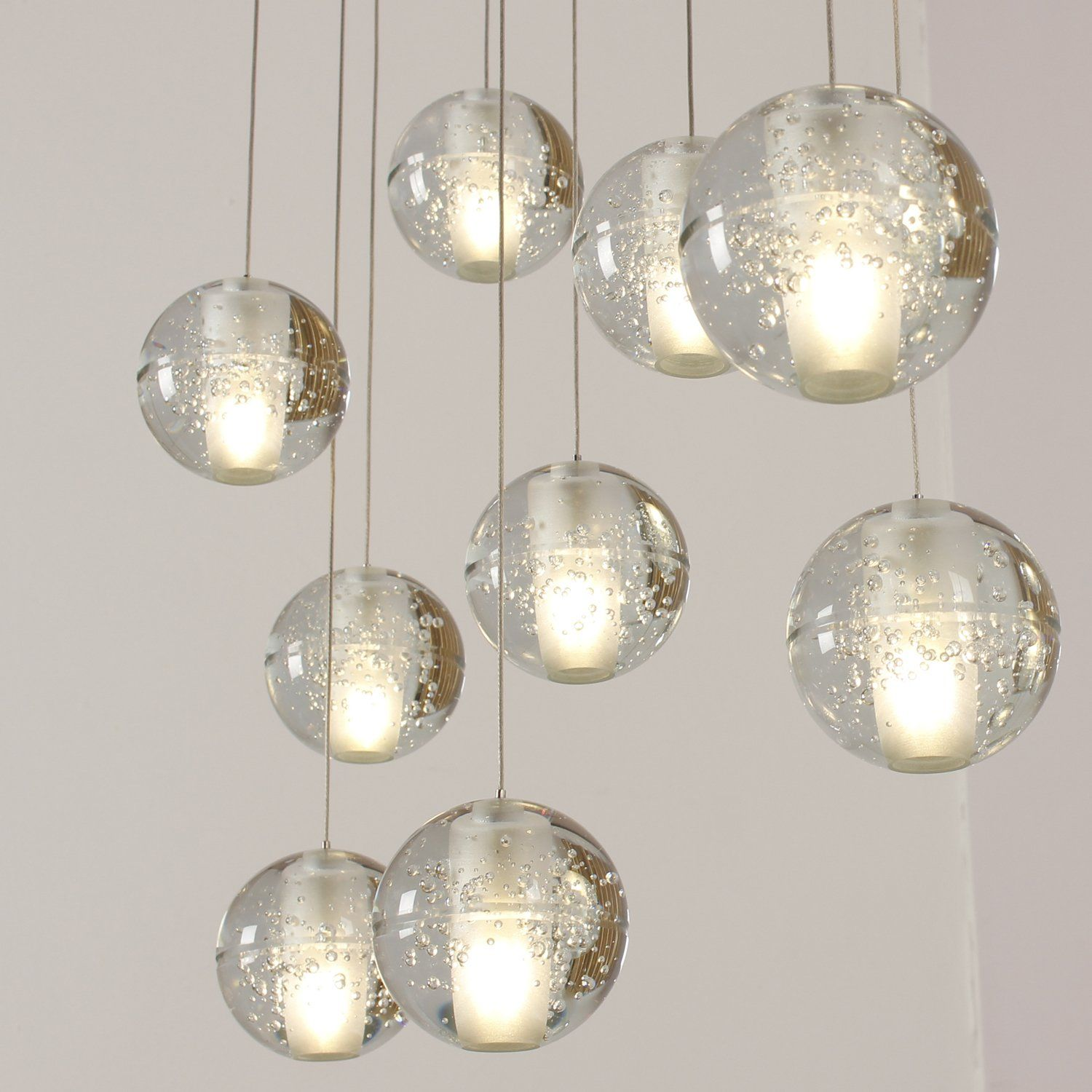 Lightinthebox Pendant Light Crystal Ball Chandeliers Dimmable With