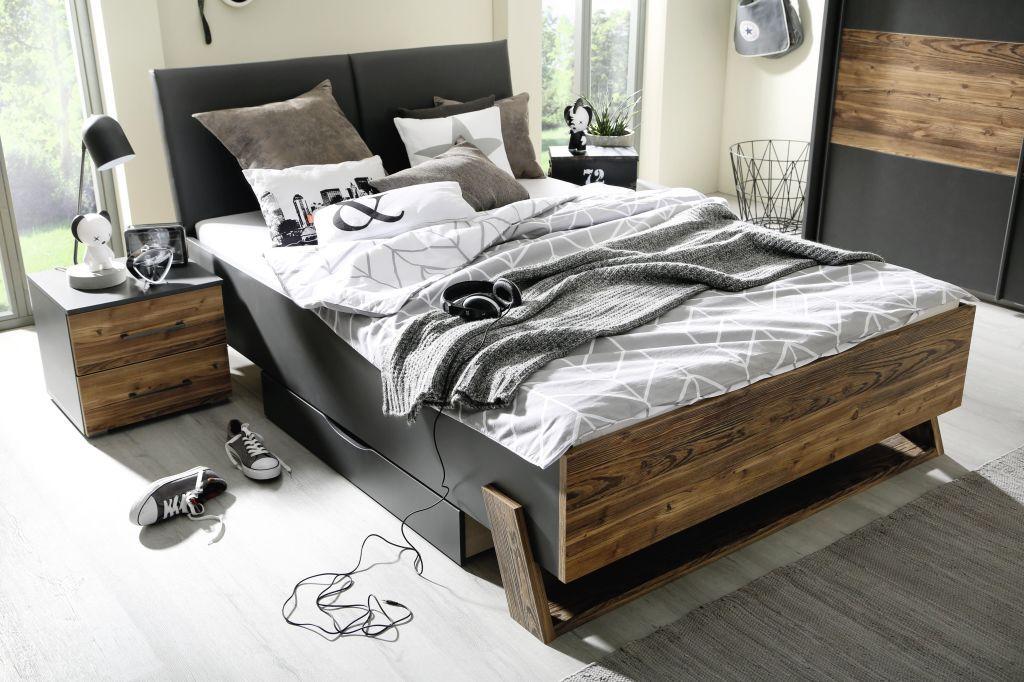 Bett 140 X 200 Cm Tokio Grau Metallic Appenzeller Fichte In 2020 Haus Deko Bett 140 Und Bett