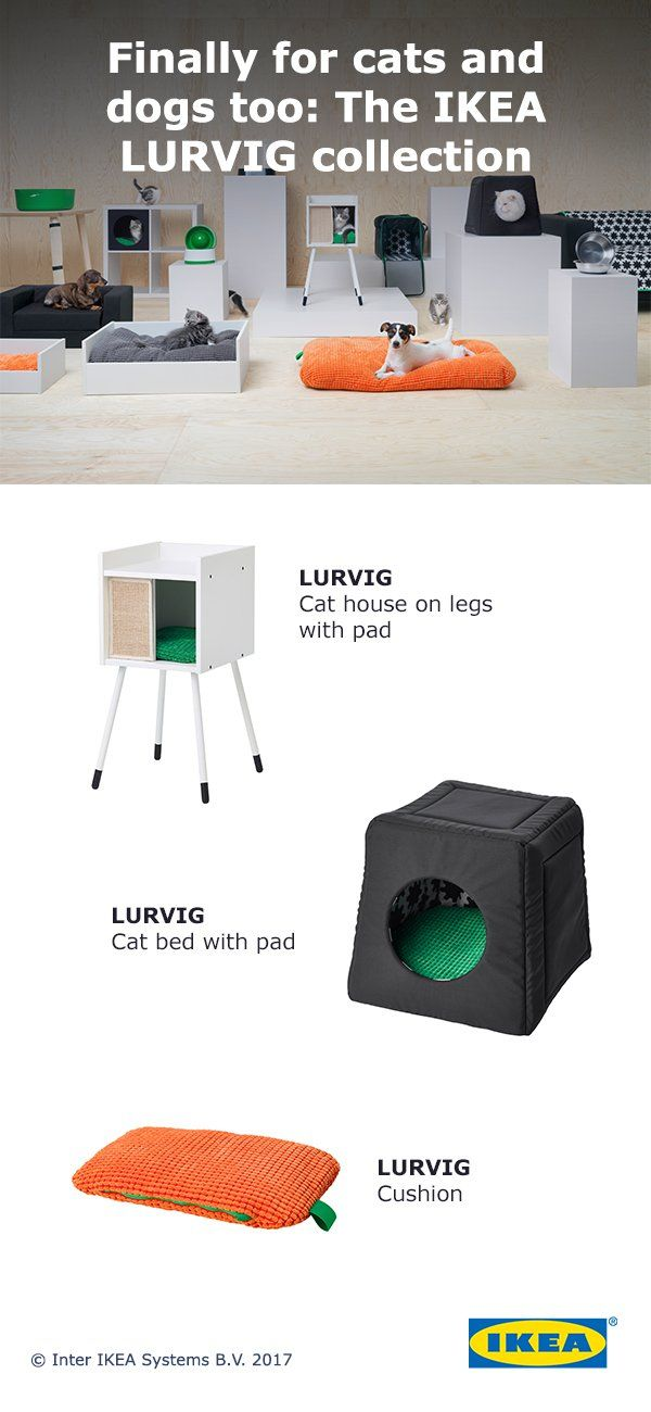 Create Your Dogs Dream Home With The New IKEA LURVIG Pet - Ikea has launched its own pet furniture collection and its paw some