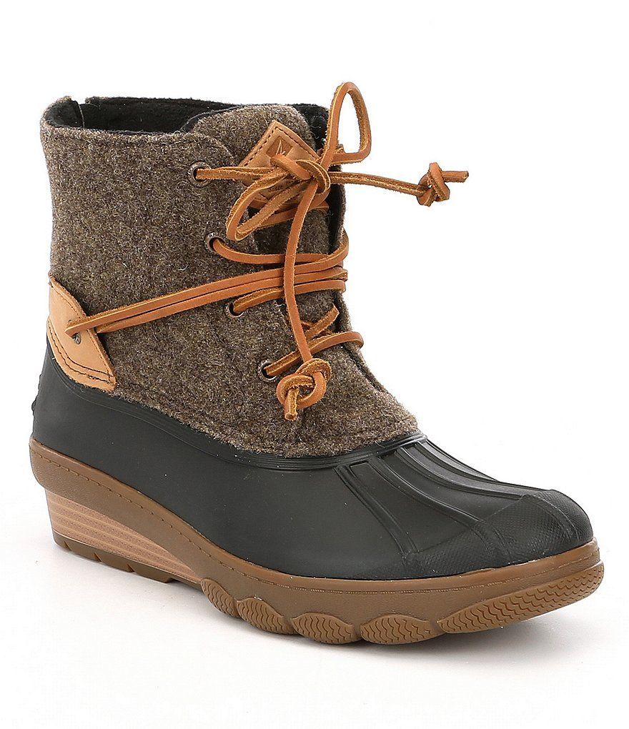 Sperry Saltwater Wedge Tide Wool Cold