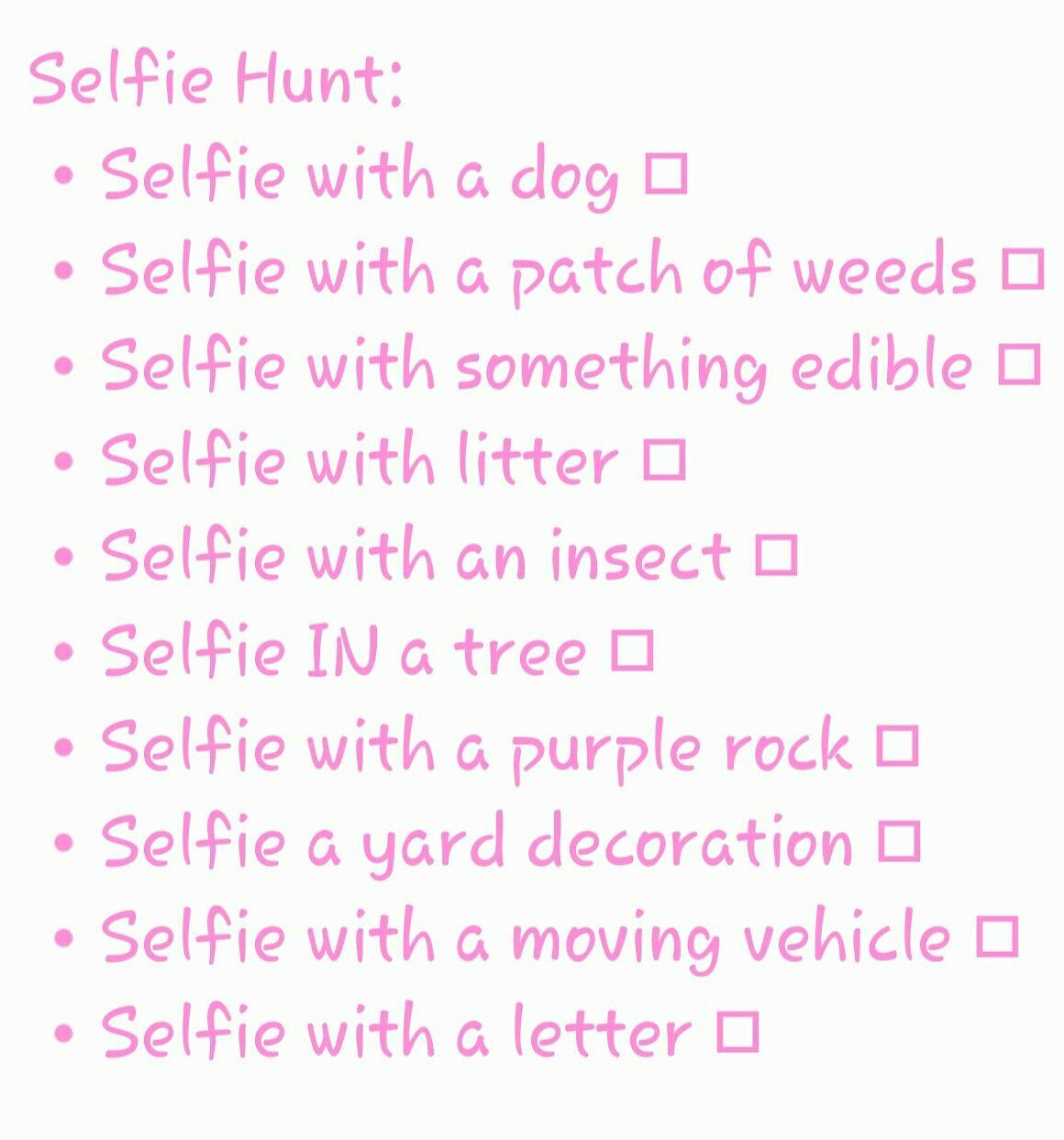Fun Selfie scavenger hunt for parties! | Mall Scavenger Hunt ...