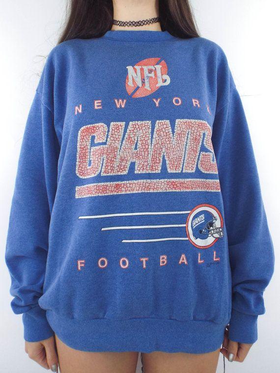 meet 0dc98 3ad02 Vintage 90s Faded Oversized New York Giants Sweatshirt ...