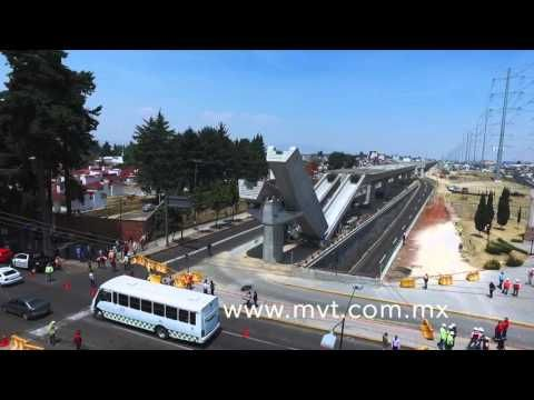 Acidente en las obras del tren interurbano México Toluca - YouTube