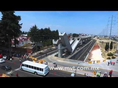 Acidente en las obras del tren interurbano México Toluca - YouTube