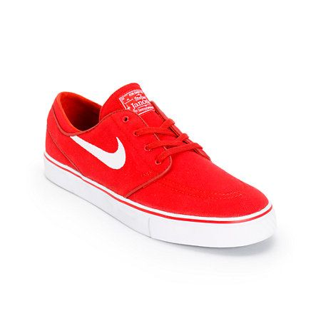 Nike SB Zoom Stefan Janoski Varsity Red   White Canvas Skate Shoes ... 8db6ae31381
