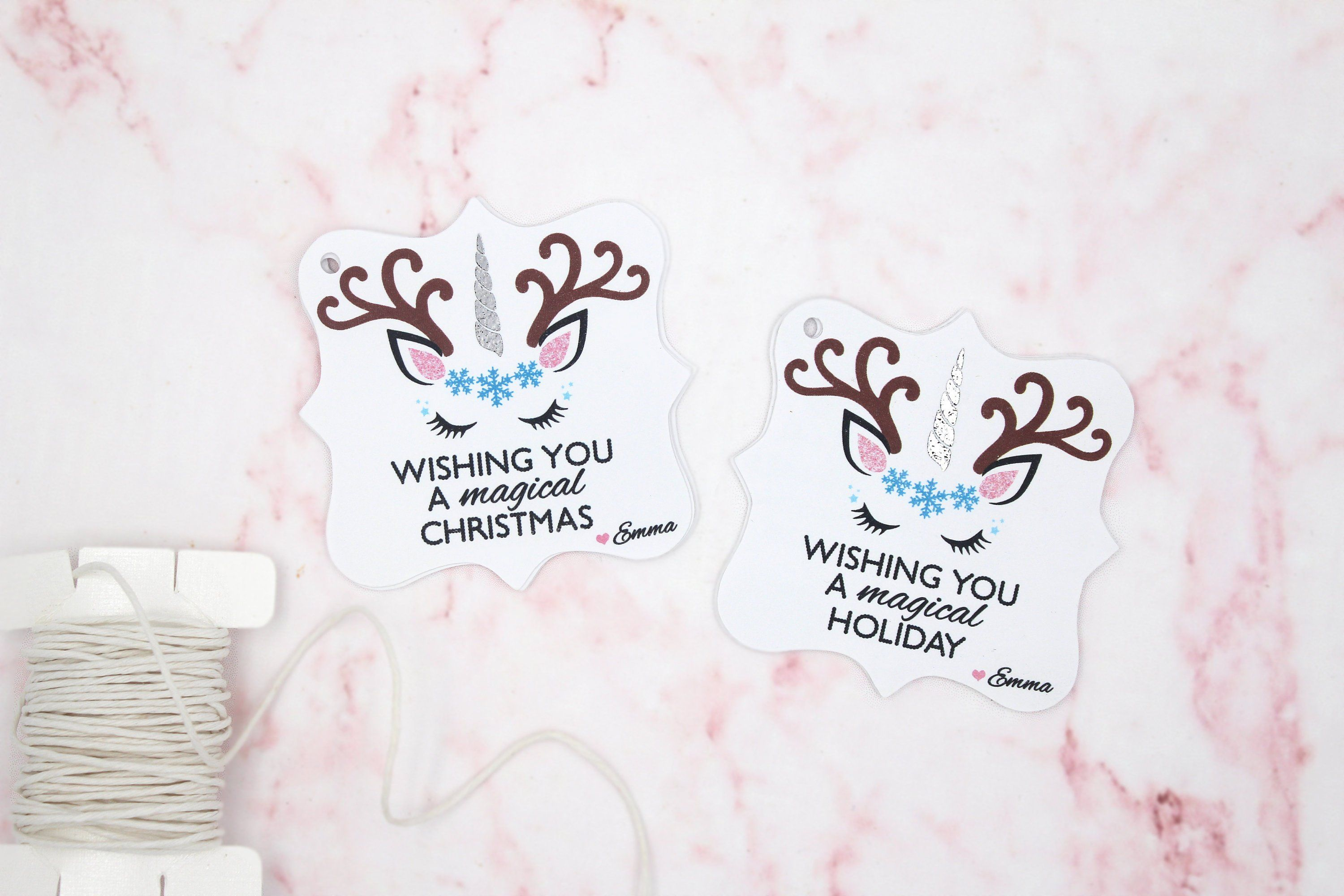 2f18e7d6ae12f Wishing You A Magical Christmas/Holiday Tags Unicorn Reindeer   Etsy ...
