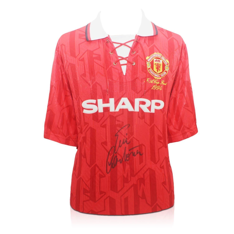 Eric Cantona Signed Manchester United Shirt Autographed Sport Memorabilia Manchester United Shirt Eric Cantona Sports Memorabilia