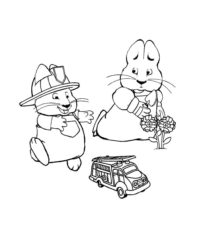 Free Printable Max and Ruby Coloring Pages For Kids | Free printable ...