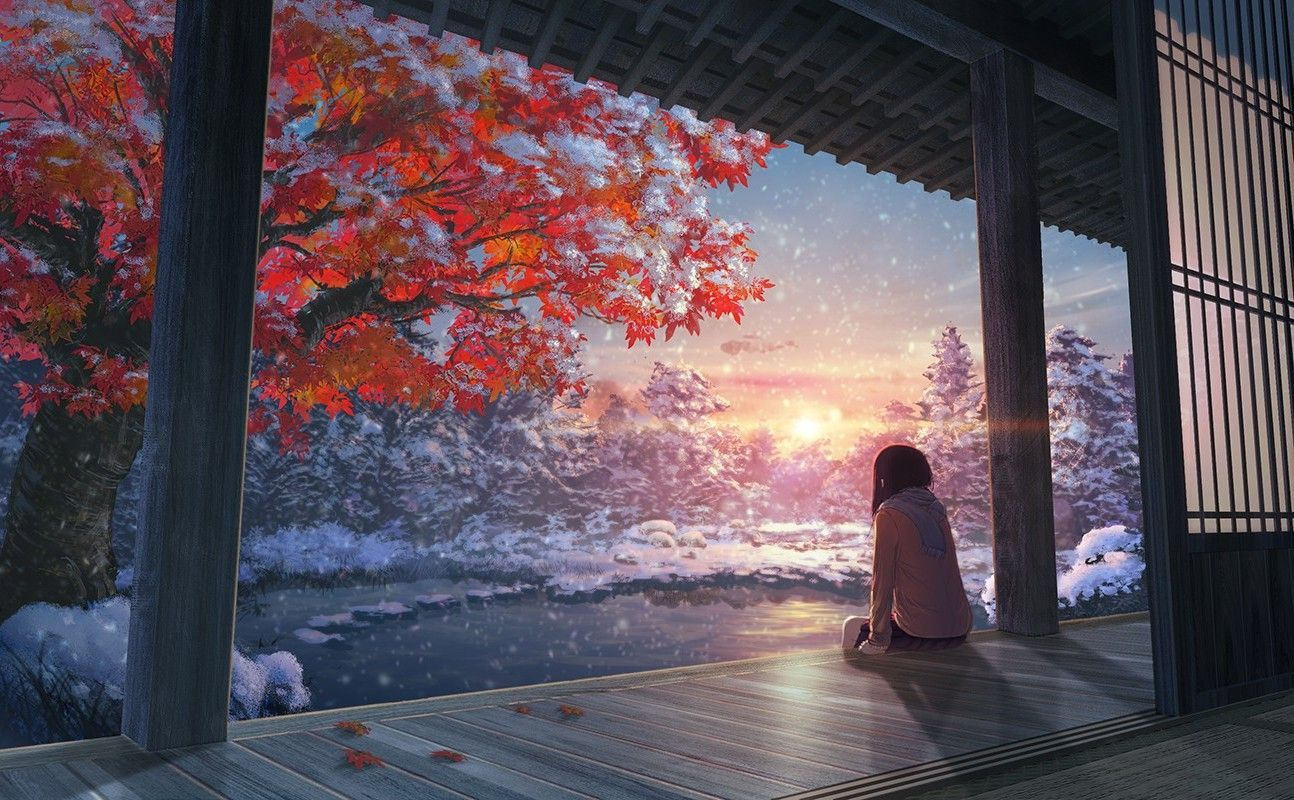 Get Great Anime Wallpaper Iphone Scenery Download Hd Wallpapers Of 312665 Fall Snow Japanes In 2020 Anime Scenery Wallpaper Anime Scenery Scenery Wallpaper