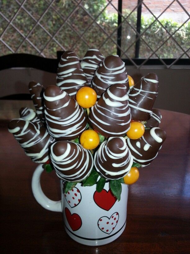 Fresas Con Chocolate Para San Valentín Fresas Con Chocolate Arreglos Frutales Fresas