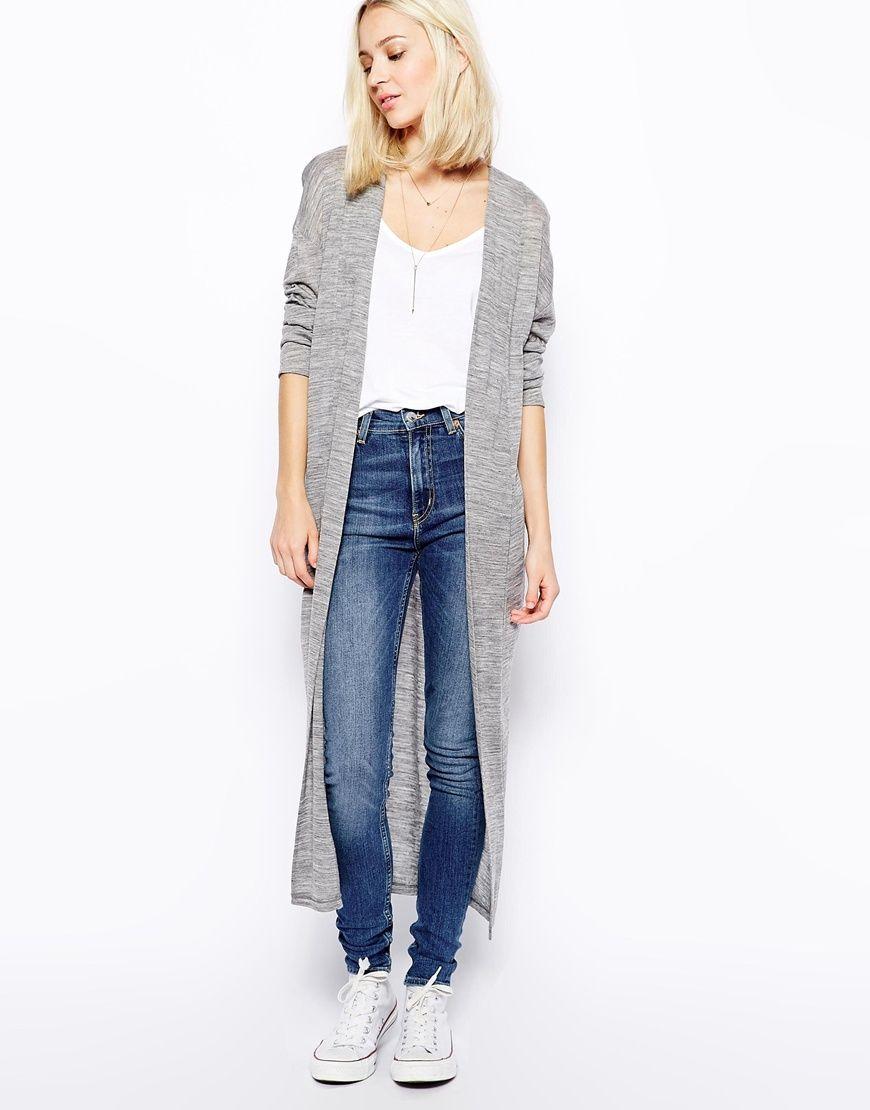Weekday Maxi Jersey Cardigan | Lange cardigans | Pinterest | Asos ...
