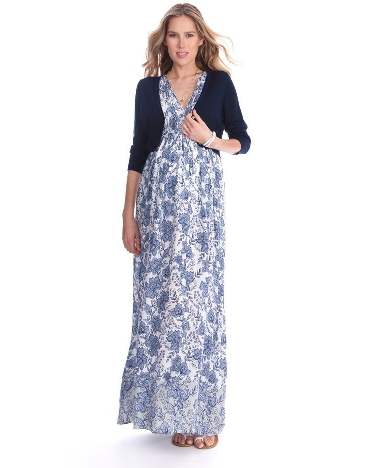 963545b8d6 Blue Floral Maternity Maxi Gown. Discover even more by checking out the  picture link