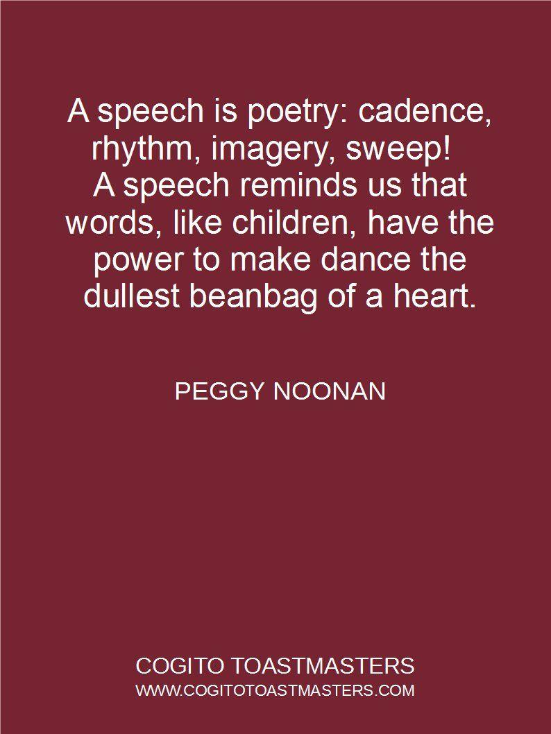 Cadence in speech