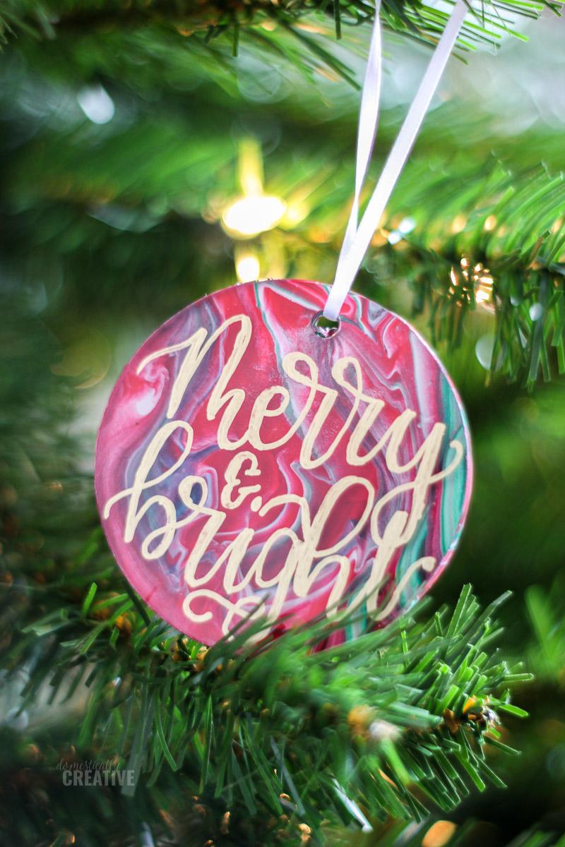 Paint Pour Christmas Ornaments Christmas Ornaments Handmade Christmas Ornaments Christmas Ornament Crafts