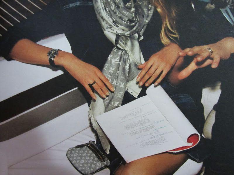 Love the Louis Vuitton scarf.