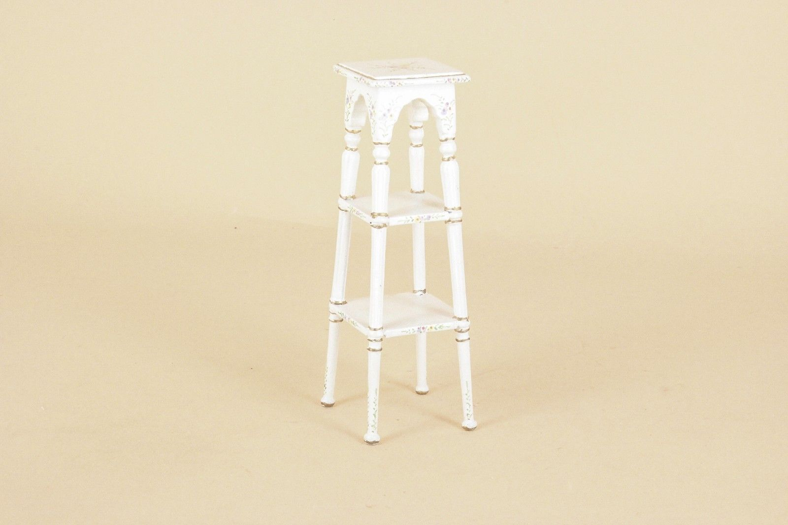 Dollhouse Miniature Unfinished Fern or Plant Stand Side Table 1:12 Scale