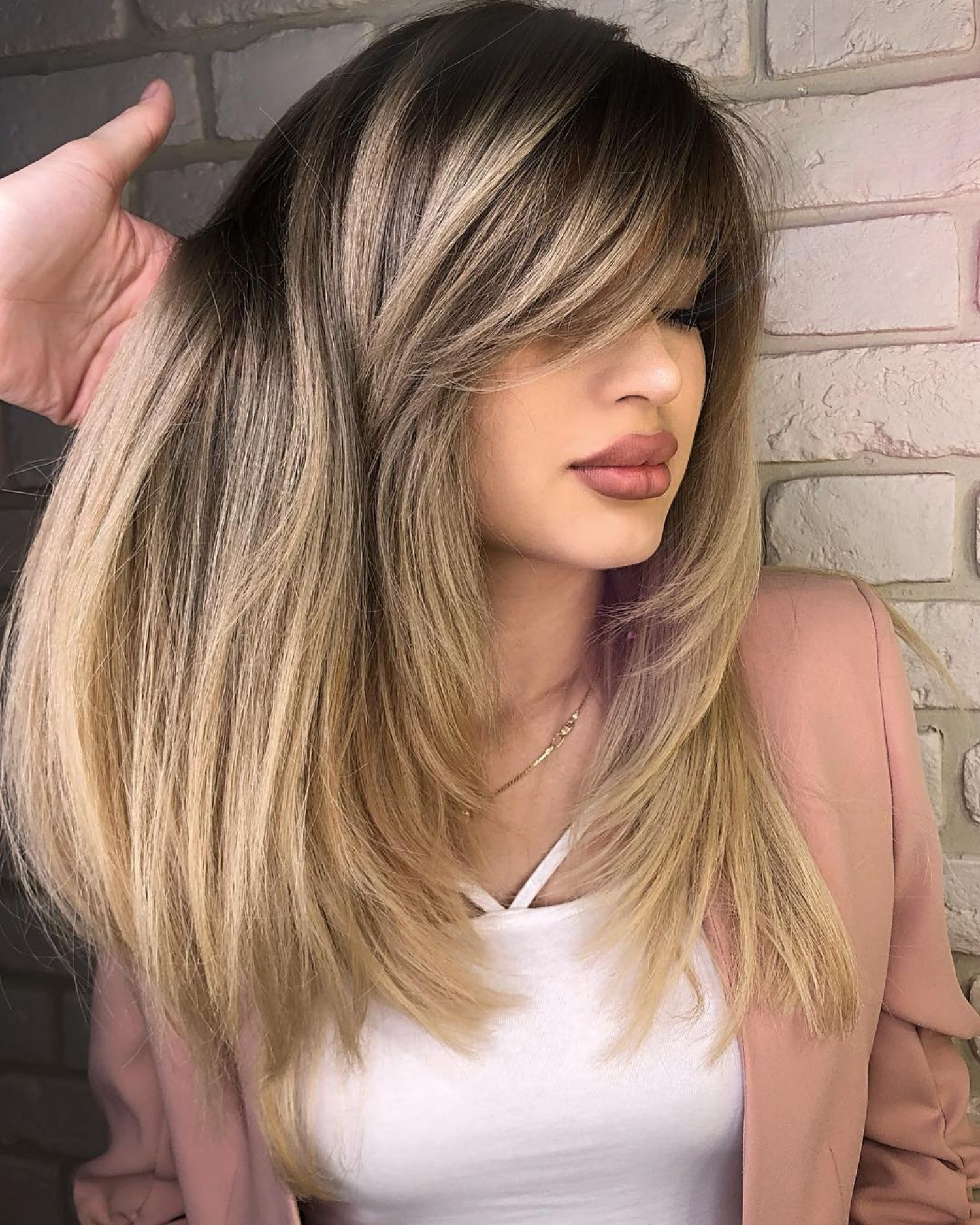 50 Cute And Effortless Long Layered Haircuts With Bangs Layered Haircuts With Bangs Side Bangs Hairstyles Long Layered Haircuts