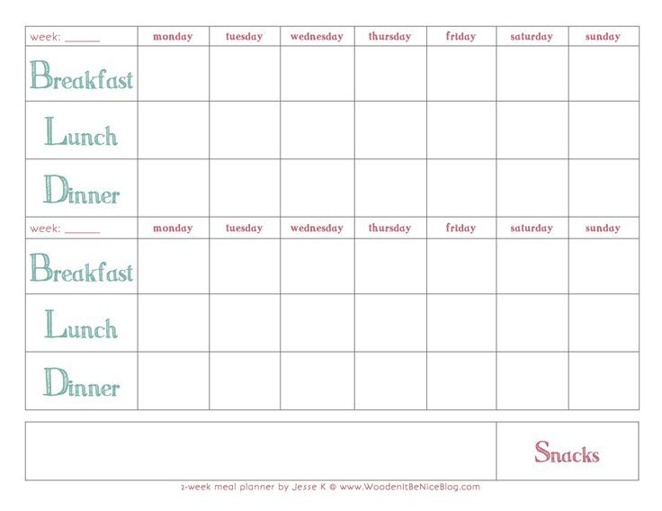 Pin by maelene morishige on staying at home pinterest for Two week meal plan template