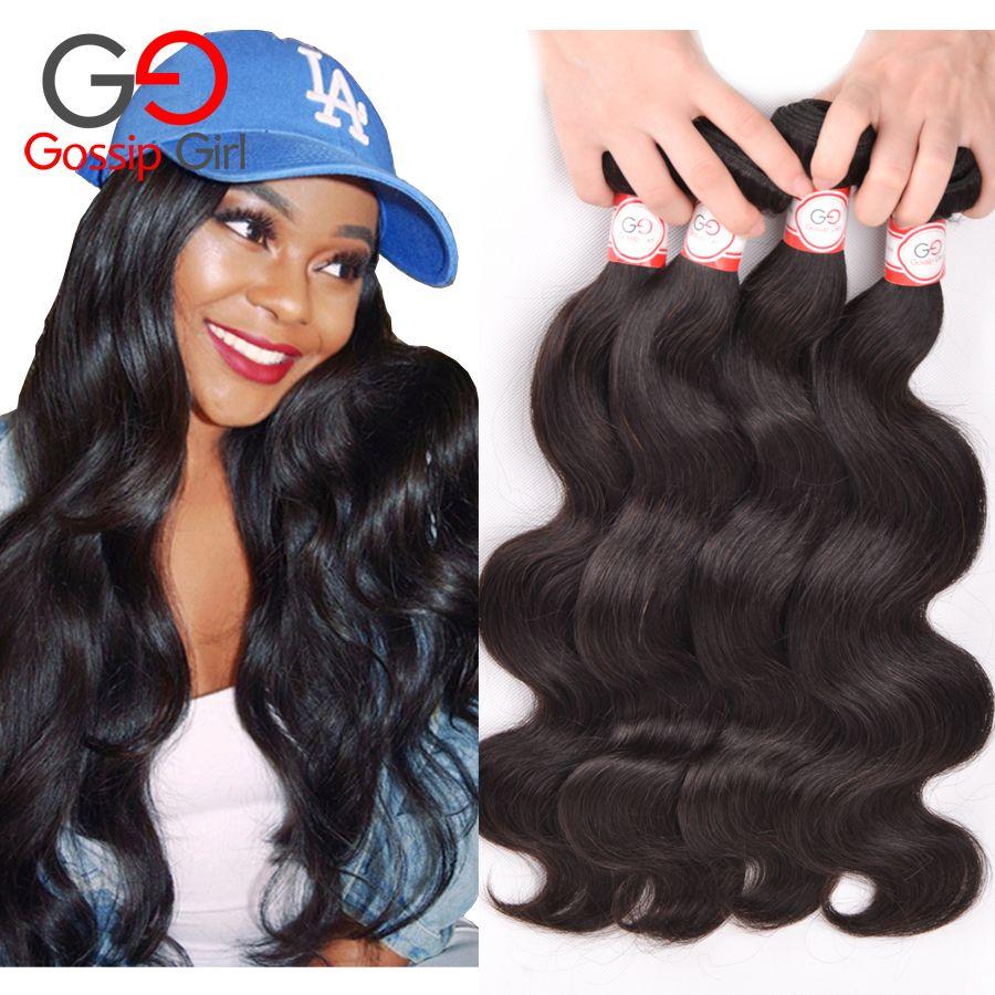 Gossip Girl Peruvian Virgin Hair Body Wave Human Hair Weave Peruvian