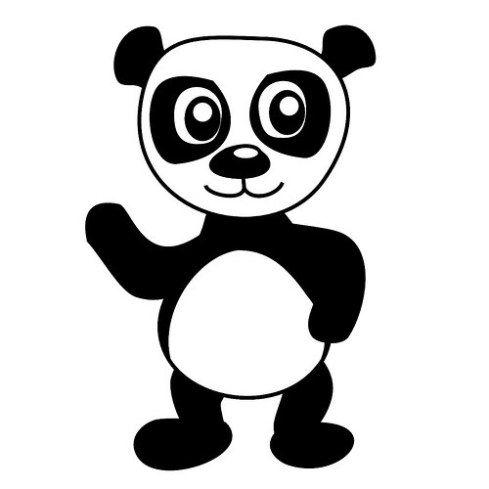 Dibujos Tiernos de Osos Panda para Colorear e Imprimir | Aula ...