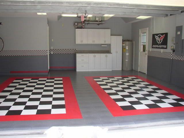 Race Deck Garage Floor Tiles Corvette Forum Pinteres