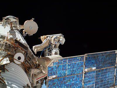 NASA Space Shuttle Columbia in Earth Orbit with Bay Doors
