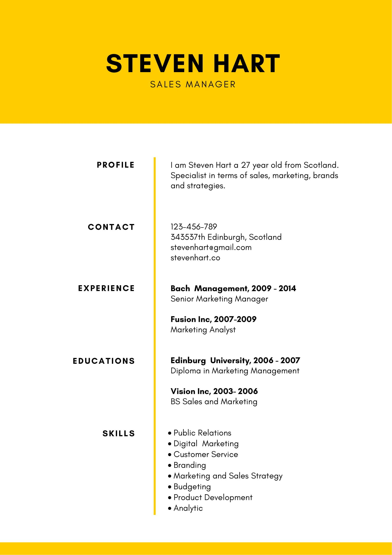 free super minimalist resume template in ms word format