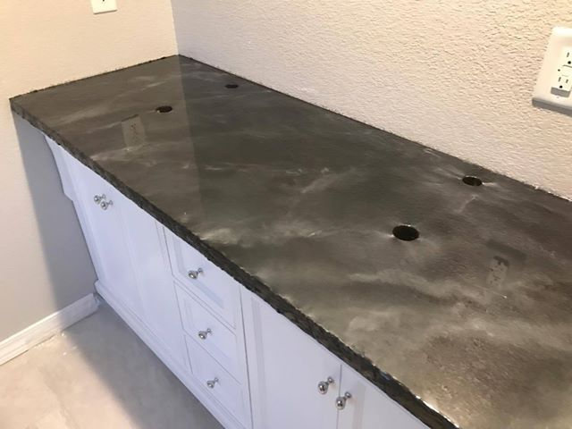Metallic Epoxy Concrete Countertop Sealer Concrete Countertops