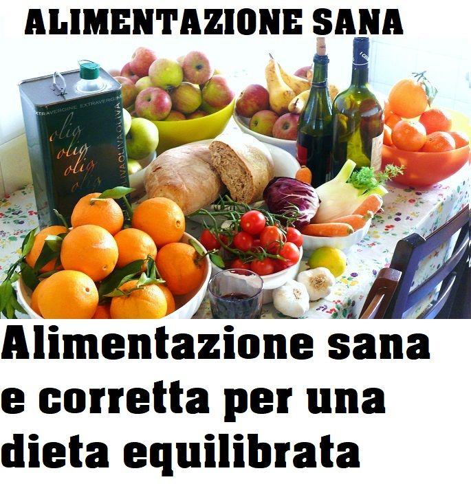 alimentazione sana e dieta equilibrata