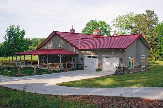 American classics a true metal building home for awesome for Metal pole barn homes plans