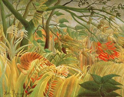 Eve, c.1906-07 (oil on canvas) by Henri J.F. Rousseau from The ...